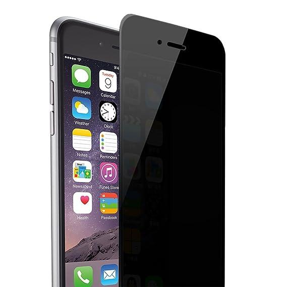 factory authentic 16e0e be616 Skylarking iPhone 6 6S Privacy Anti-Spy Tempered Glass Full Screen  Protector Ballistics 0.3mm 9H Hardness Anti shatter Anti Scratch  Fingerprint, ...