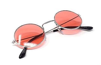 88197a23f4fdeb Cadre Argenté Avec Des Lentilles Rouges Lunettes De Soleil Rondes Style  Petit Adulte Vintage Style John Lennon Look vintage Qualité UV400 Elton  Hommes ...