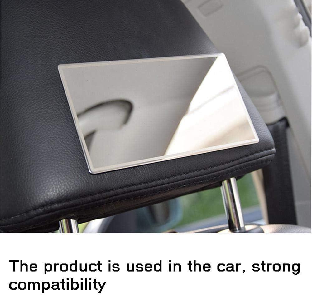 Liery Car Miroir Cosm/étique en Acier Inoxydable Portable Miroir De Maquillage De Protection Solaire Pratique Int/érieur De Voiture