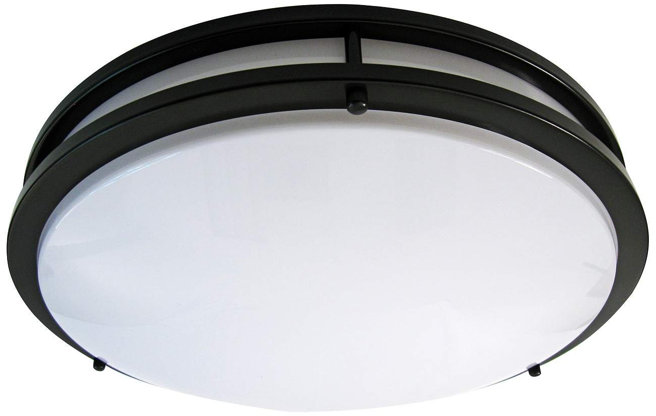 LB72125 LED Flush Mount Ceiling Light, 16-Inch, Oil Rubbed Bronze, 23W (180W equivalent) 1610 Lumens 4000K Cool White, ETL & DLC Listed, ENERGY STAR, Dimmable