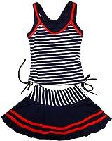 (ジョリーイグレック) JOLIE.y 水着 子供 キッズ かわいい スイミング ウェア ボーダー スカート ストライプ セパレート 旅行 キュート ガール 女の子 女児 A02