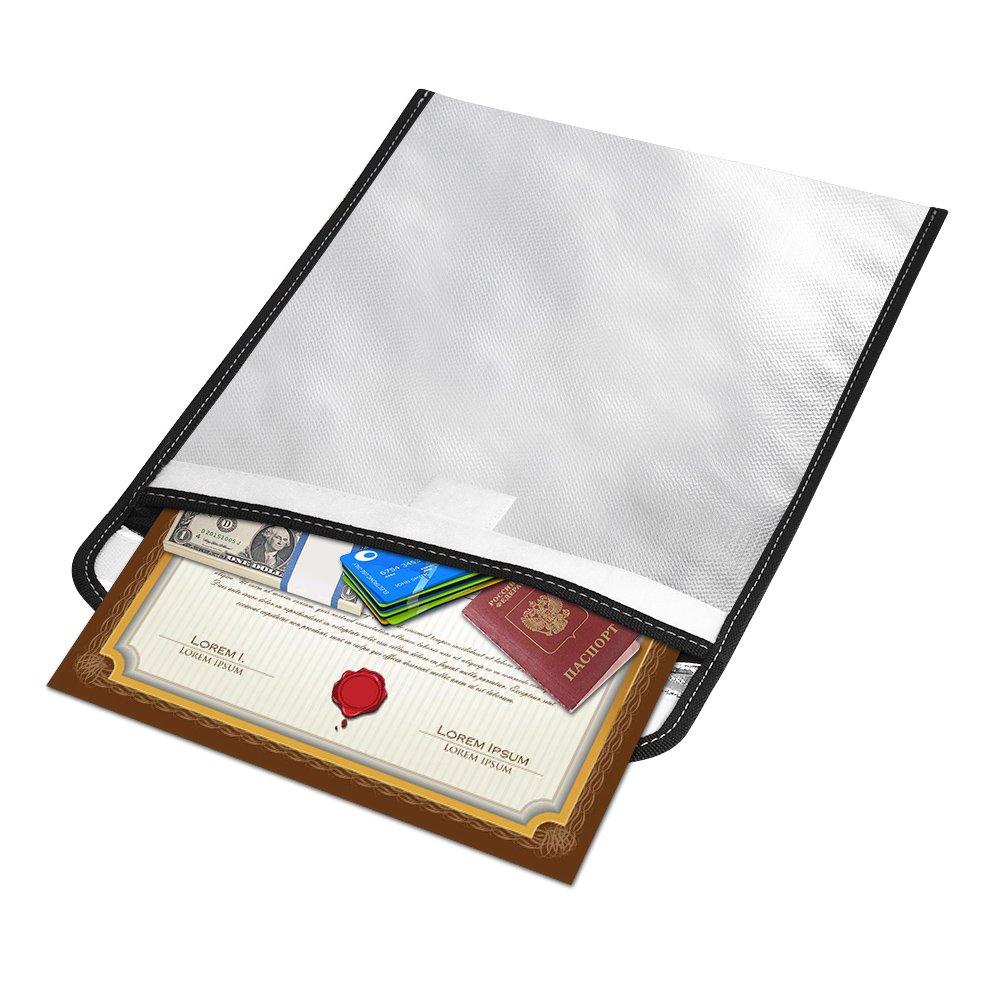 Aibecy Bolsa prueba de archivo de documento a prueba Bolsa de fuego ...