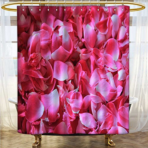also easy Shower Curtains bacterial Polyester Shower Liner A pile of pink rose petals Mildew Resistant Waterproof 72 x 84 inches