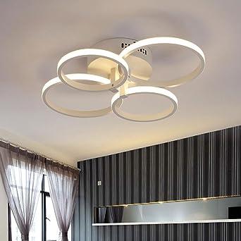 Weiting Super Dunnen Kreisringe Moderne Led Decke Kronleuchter Lampe
