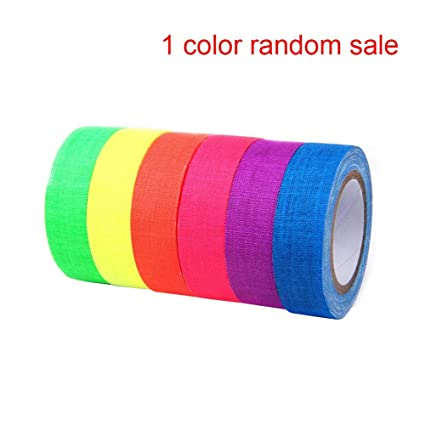 Fluorescent Neon Tape ,UV Blacklight Reactive,Gaffer Cloth Matt Bigger Size