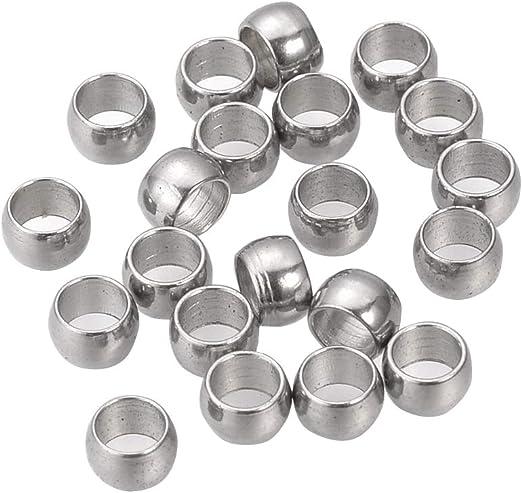 100pc  Crimp Round Stopper Metal Bead 2mm-pls pick a color