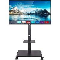 "UNHO Mobile TV Stand Floor Standing, Tilt TV Pedestal Stand Wheels TV Trolley for 32""-65"" LCD LED Flat Screen Height…"