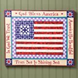 Jim Shore US Flag Americana 16×20 Canvas Wall Art