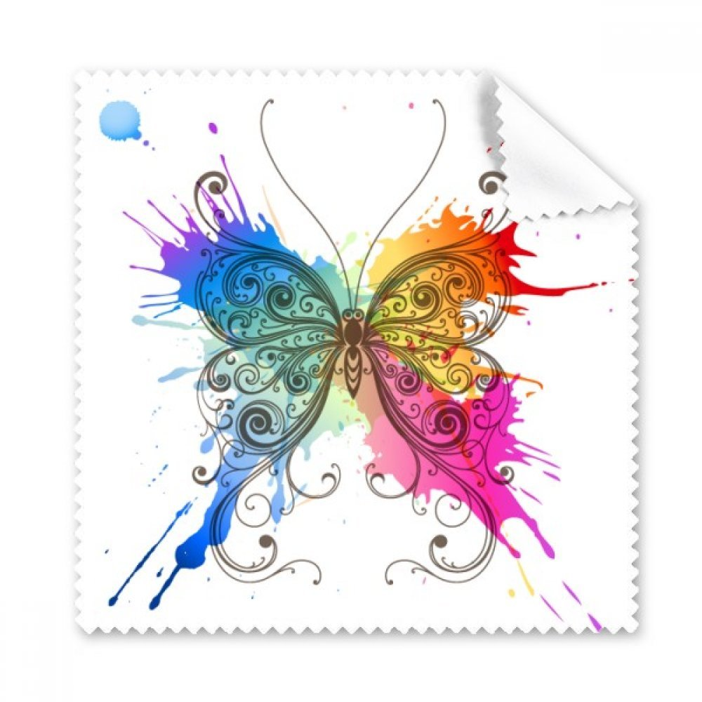 ink-paintingスタイルLikeバタフライGlasses布クリーニングクロスギフト電話画面クリーナー5点   B073XM66PH