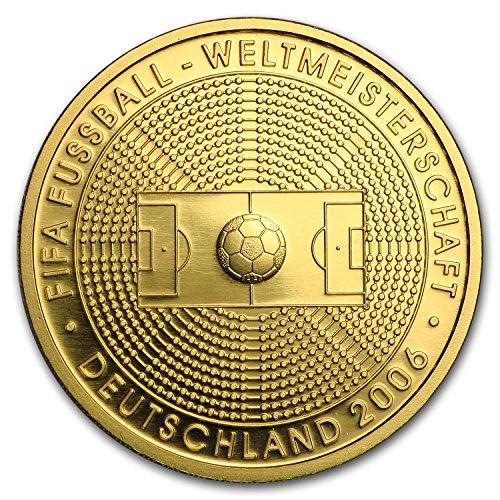 (2005 DE Germany 1/2 oz Gold 100 Euro Soccer World Cup Germany BU 1/2 OZ Brilliant Uncirculated)