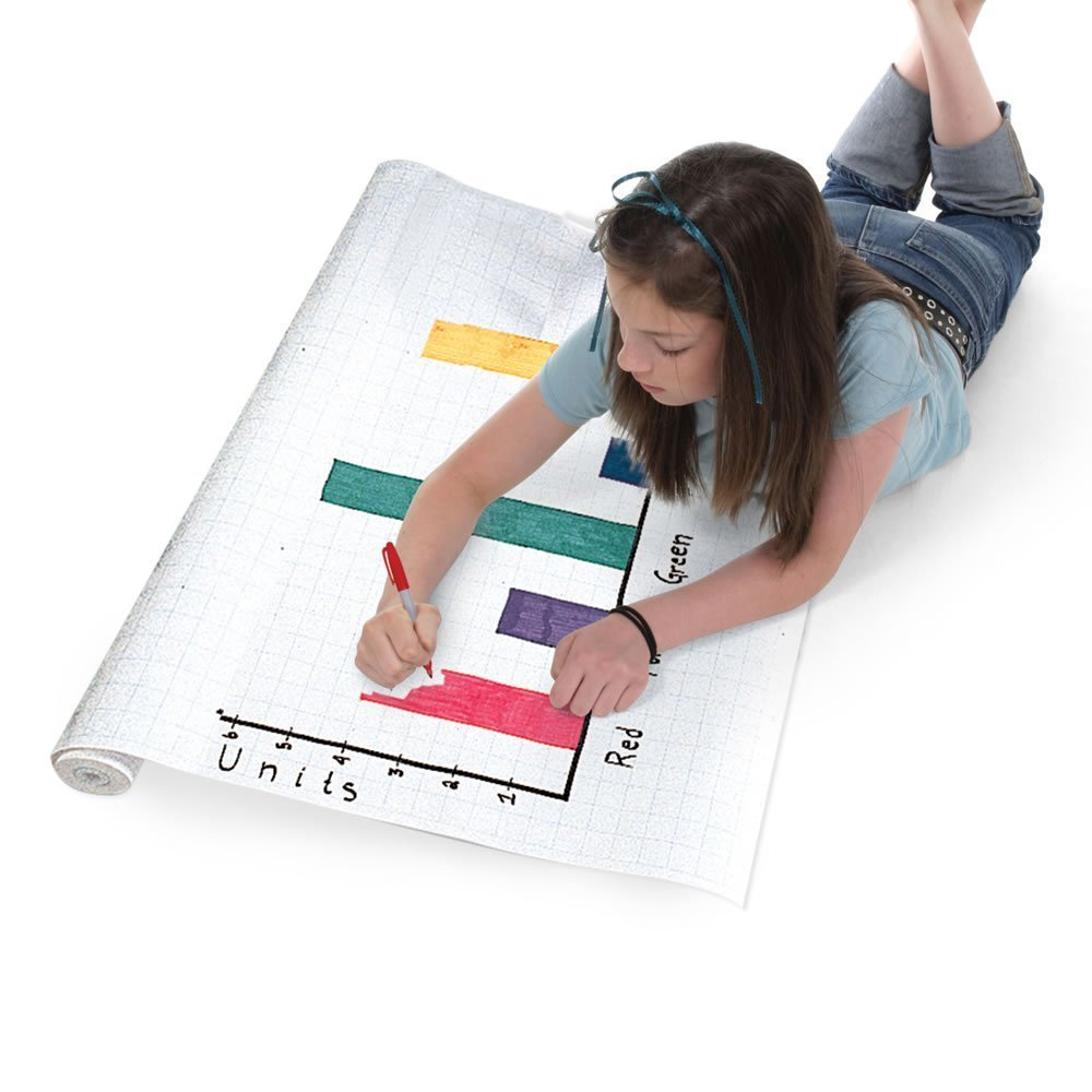 ETA hand2mind 1/2'' Grid Graph Paper Roll by ETA hand2mind