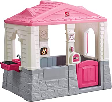 Step 2 - Casa de jardín Neat & Tidy, color rosa: Amazon.es: Juguetes y juegos