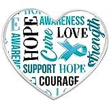 PinMart's Light Blue Heart with Words Prostate Awareness Hope Enamel Lapel Pin