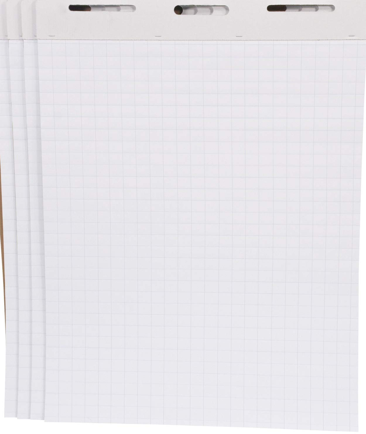 School Smart Cross-Ruled Easel Pad, 27 x 34 Inches, White, 50 Sheets, Pack of 4 by School Smart