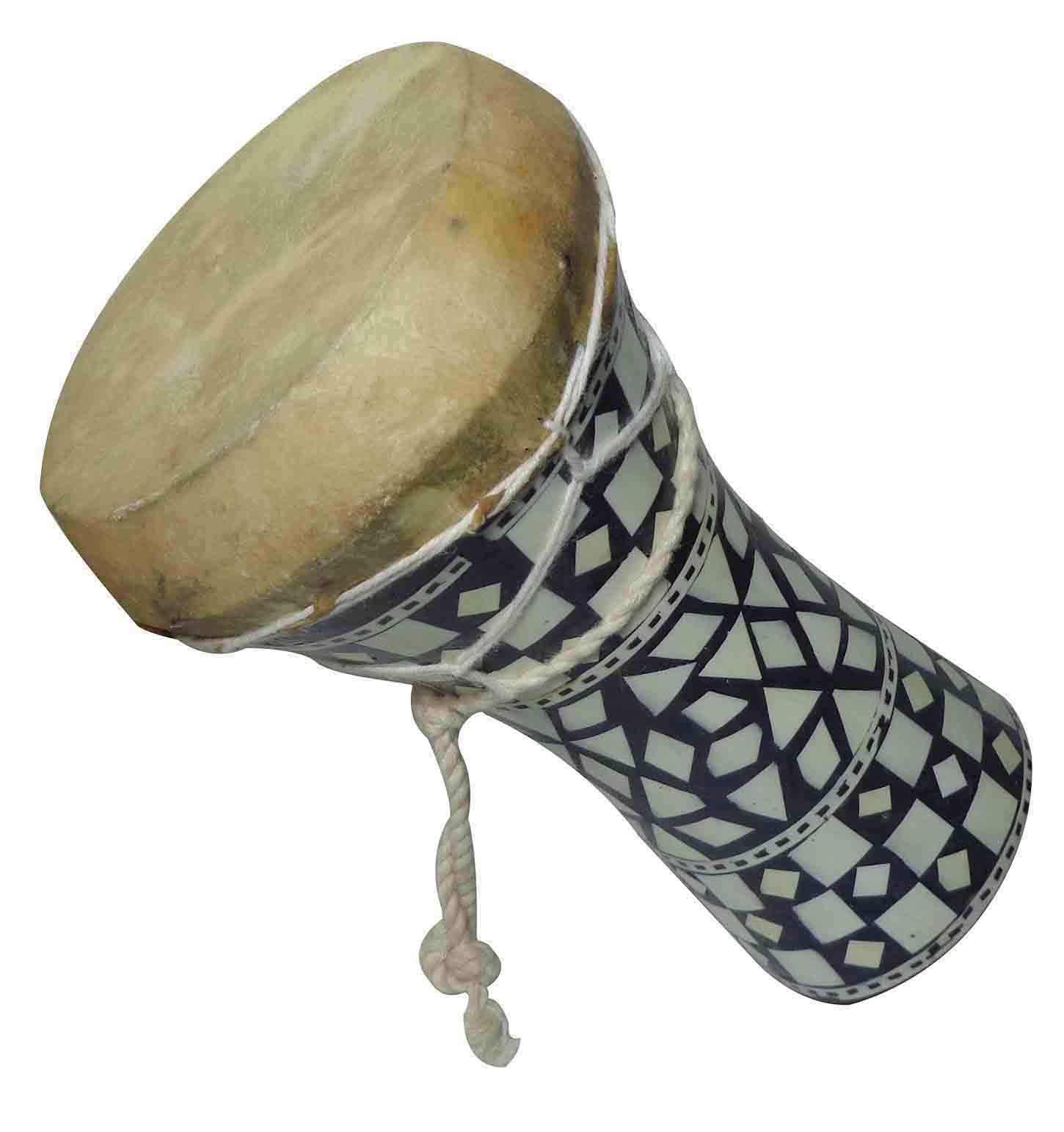 1pcs Small Egyptian Wooden Tabla Drum Doumbek Goat Skin Mosaic 6'' Handmade (425) by bonballoon