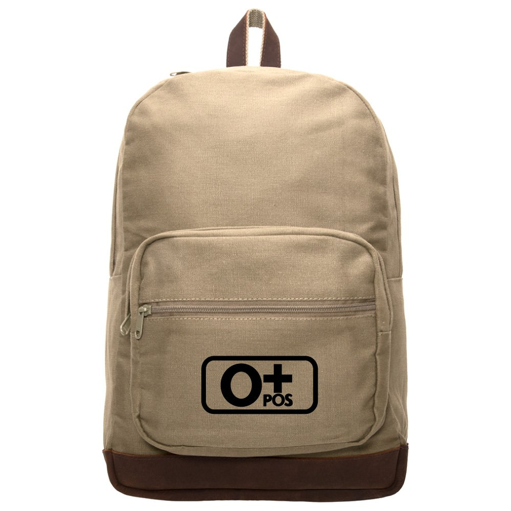 Blood Type O+ Pos Teardrop Backpack With Leather