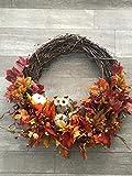 18'' Sunflowers Fall Door Wreath Burlap Thanksgiving Autumn Floral Rustic Home Decor Everyday Wreath Front Door