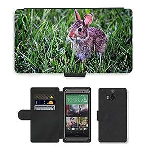 PU LEATHER case coque housse smartphone Flip bag Cover protection // M00134807 Mamífero conejo de conejito lindo // HTC One M8
