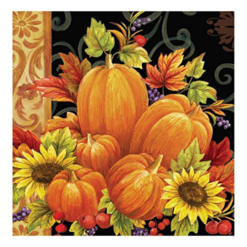 Creative Converting 317065 16 Count Paper Lunch Napkins, Pumpkin Tapestry (Napkins Autumn)