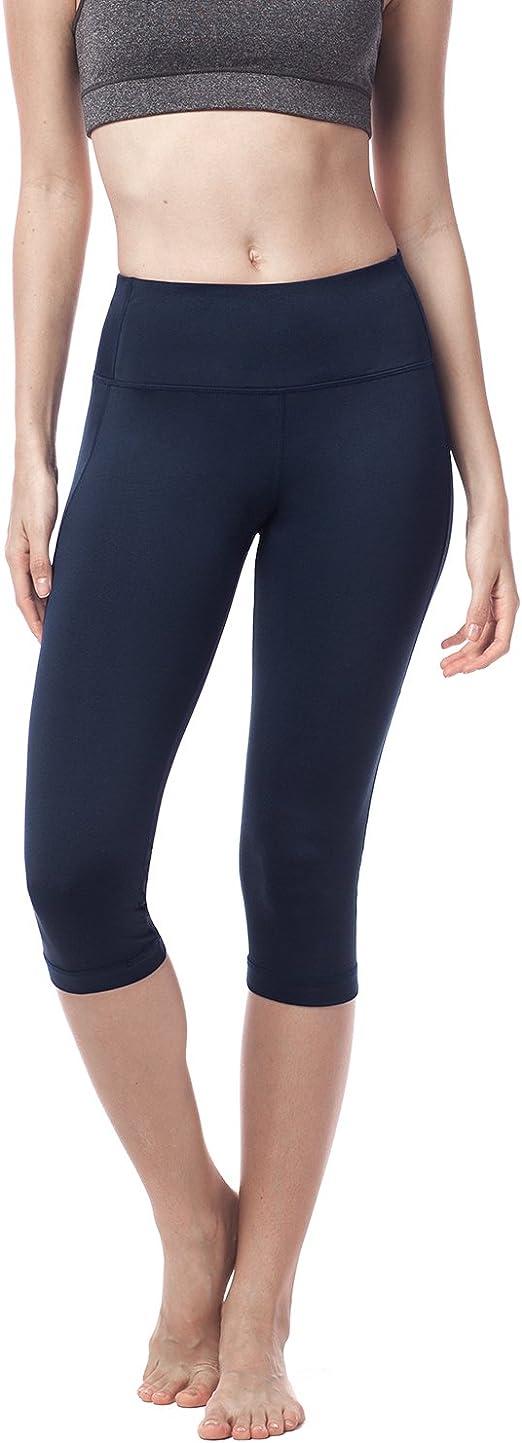 Abollria Leggings Donna 3//4 Lunghezza Leggings Capri Pantaloni Sportivi Casual per Palestra Fitness Yoga