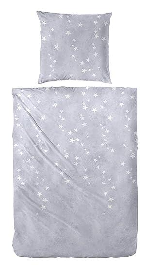Winter Bettwäsche Edel Flanell Baumwolle 135x200 155x220 Sterne