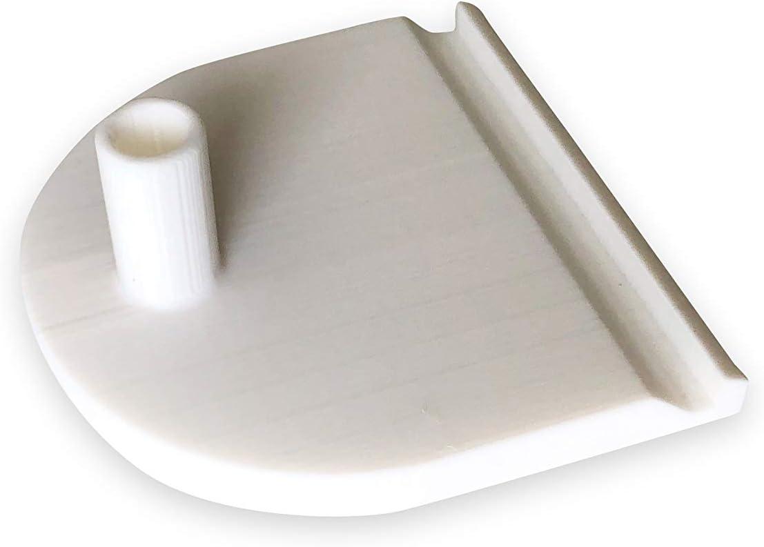 3dp 2X Inserto Superior de Puerta corredera - Pieza de Repuesto Compatible con IKEA Pax 124341