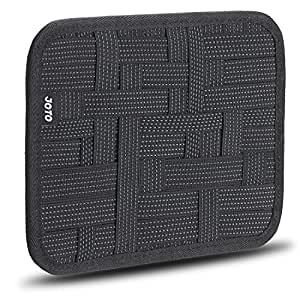 Electronics Organizer, JOTO Travel Gear Management Organize Case for Electronics Accessories Tools Hard Drive Memory Card Flash Drive Cables Charger Cosmetics Brush Personal Care Kit - Small (Black)