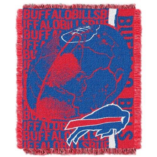 "The Northwest Company NFL Buffalo Bills Double Play Jacquard Throw, 48"" x 60"""