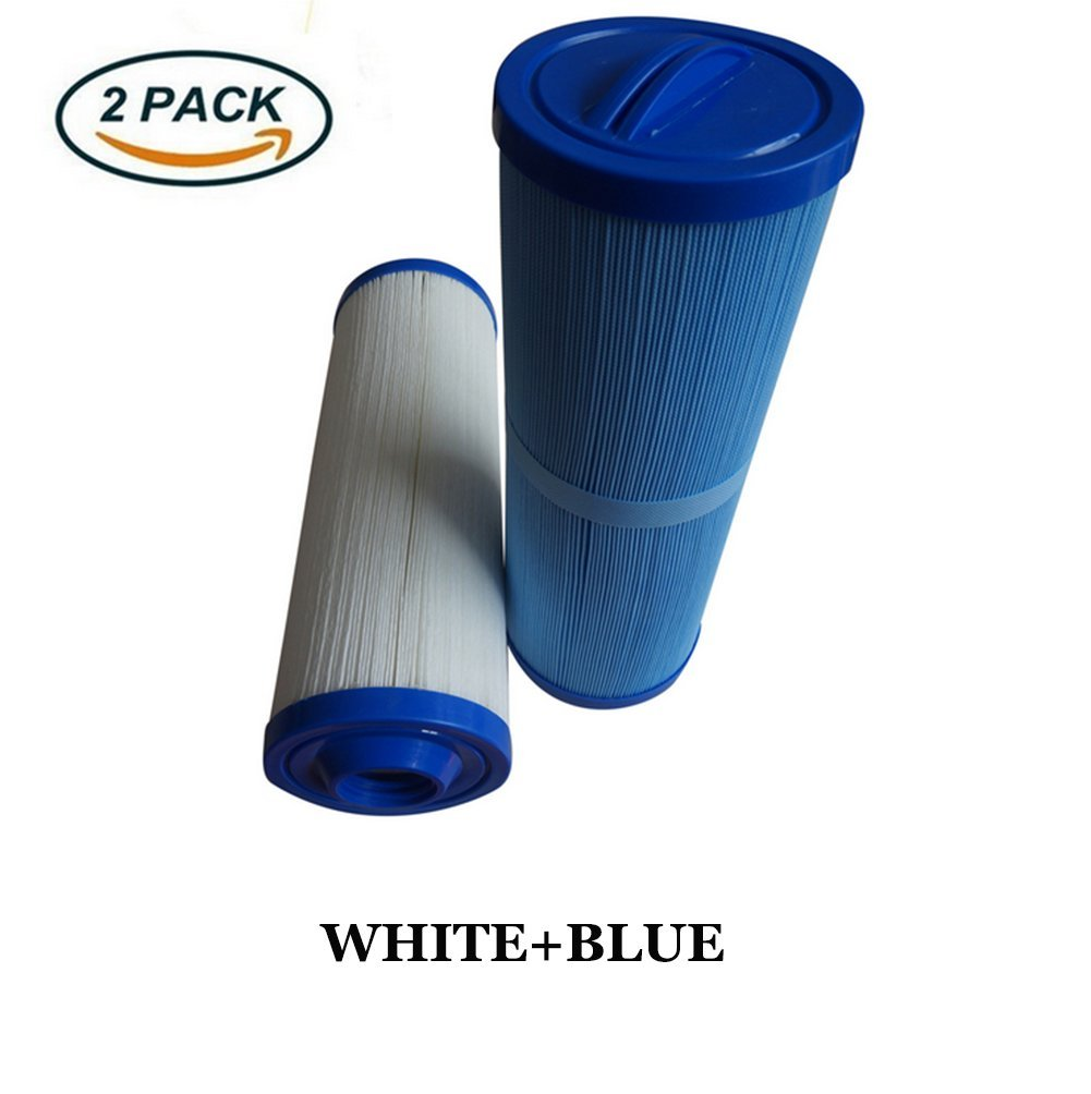 OOFAY LIGHT® Spa Hot Tub Filter Cartridge Threaded Filtration Comparable Replacement, (2Pack=White+Blue)