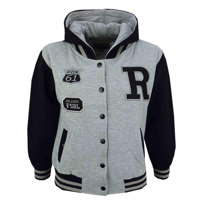 A2Z 4 Kids/® Unisex Kids Girls Boys Baseball Fox NYC Hooded Jacket 7 8 9 10 11 12 13 Years
