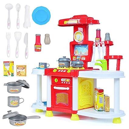 Amazon.com: Juego de cocina infantil para cocina, accesorios ...