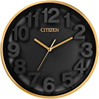 Citizen CC2025 Gallery Wall Clock, Black, Gold