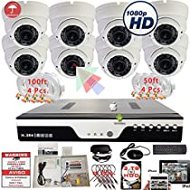 Evertech 8 Channel HD-CCTV DVR & 1080P Cameras Complete Security Surveillance System Set with 2TB HDD