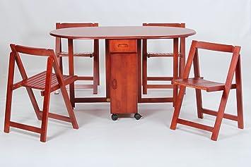 Home Gift Garden HGG Drop Leaf Tisch Und 4 Stühle U2013 Kleiner Esstisch U2013  Küche U2013