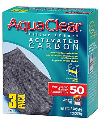 Aquaclear Activated Carbon Insert, 50-Gallon Aquariums, 3-Pack from Rolf C. Hagen (USA) Corp.