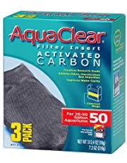 AquaClear A1384 Activated Carbon Insert, 50-Gallon Aquariums, 3-Pack