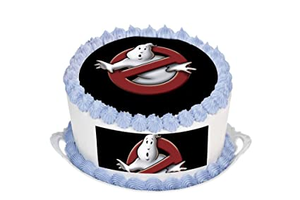 Prime Ghostbusters 7 5 Inch Round Circular Edible Cake Topper Funny Birthday Cards Online Alyptdamsfinfo