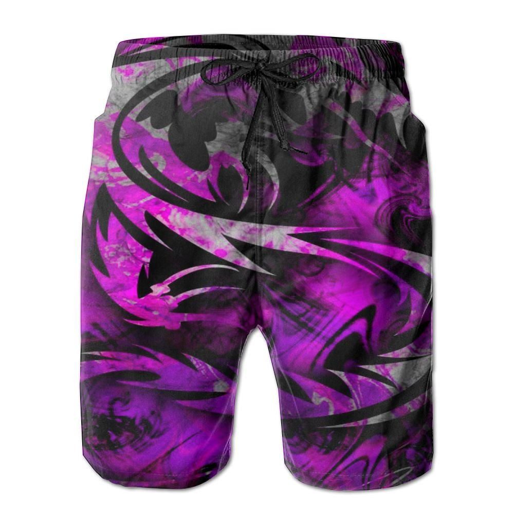Purple Invisible Dragon Summer Fast Dry Beach Men Board Shorts