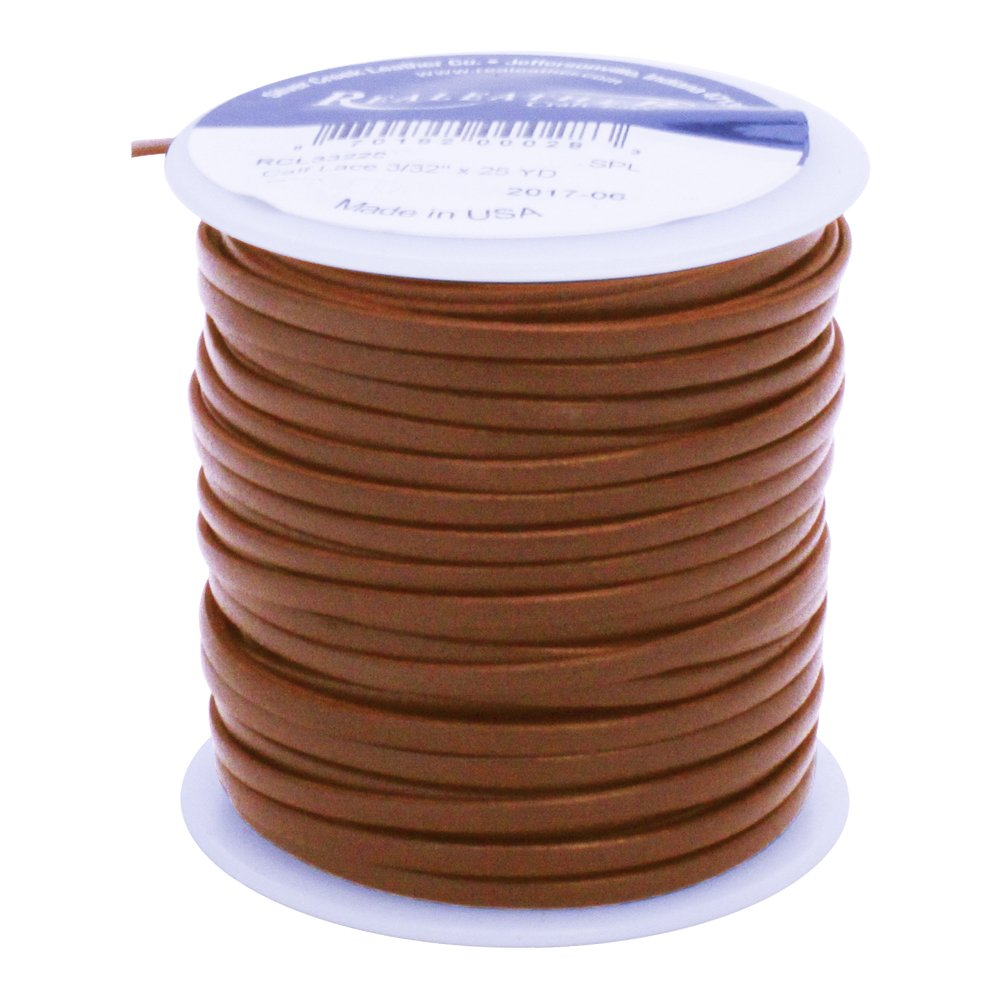 Springfield Leather Company 1/8'' Tan Premium Formed Calf Lace