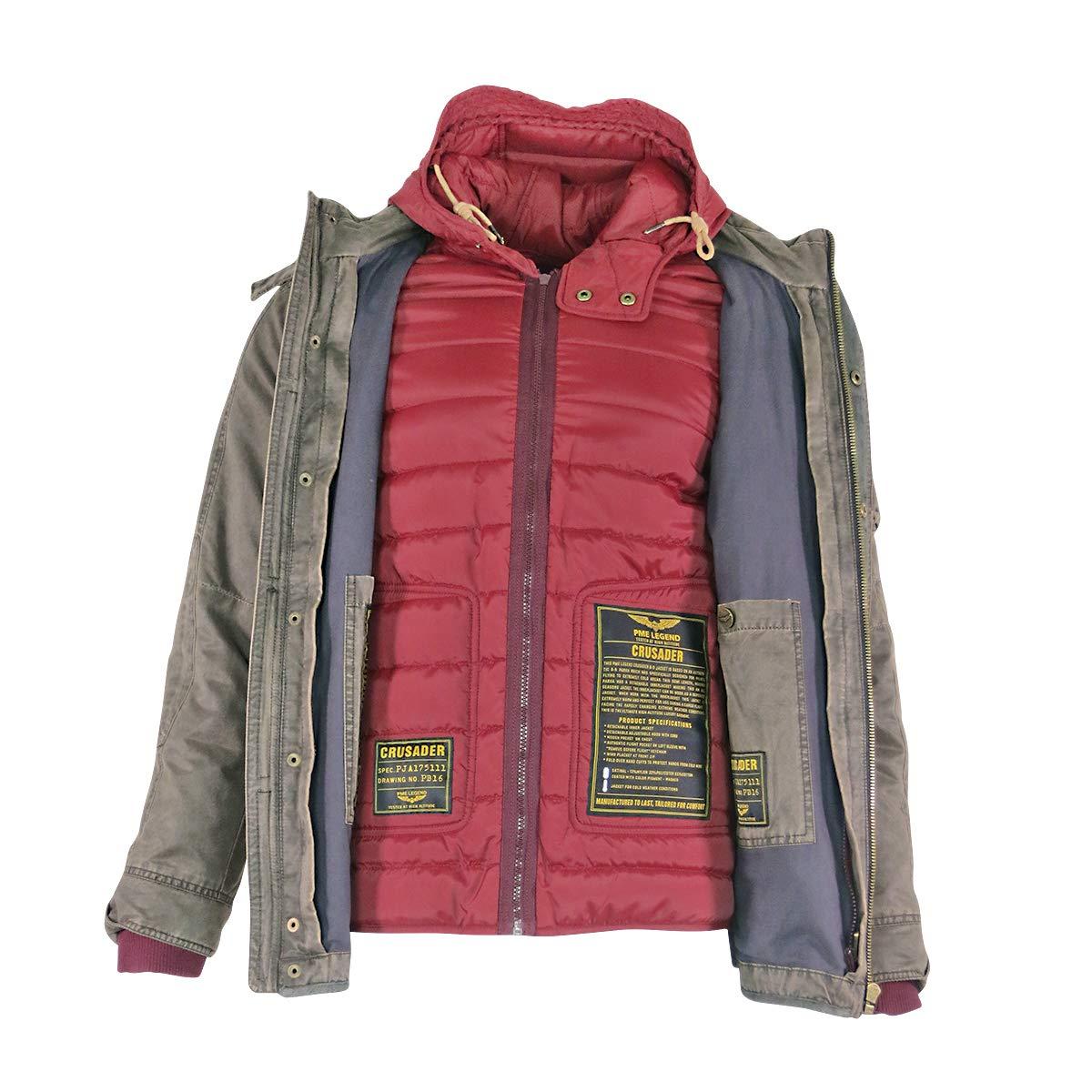 PME Legend Crusader Herren Winterjacke Grün Daunenjacke Jacke für Männer