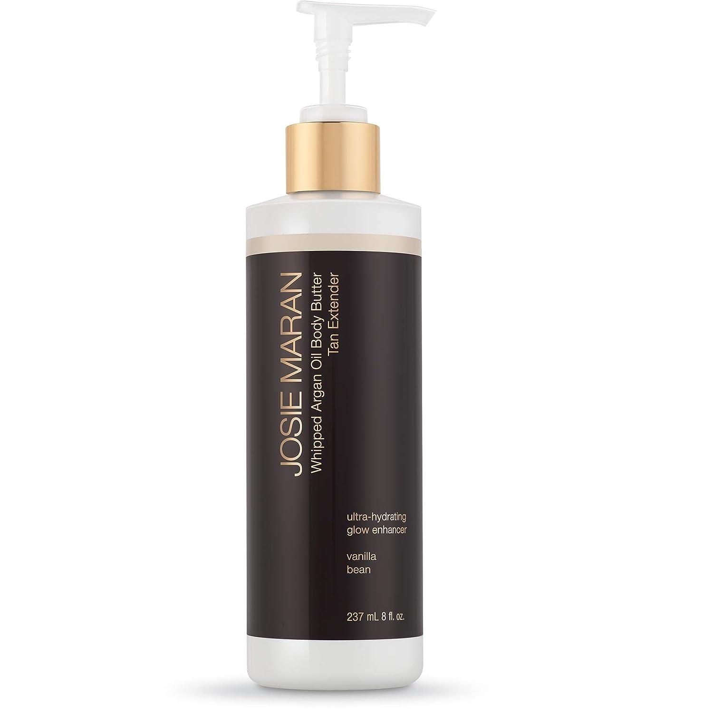Josie Maran Whipped Argan Oil Body Butter Tan Extender - Take Your Tan To The Next Level (237 mL | 8 fl. oz, Vanilla Bean)