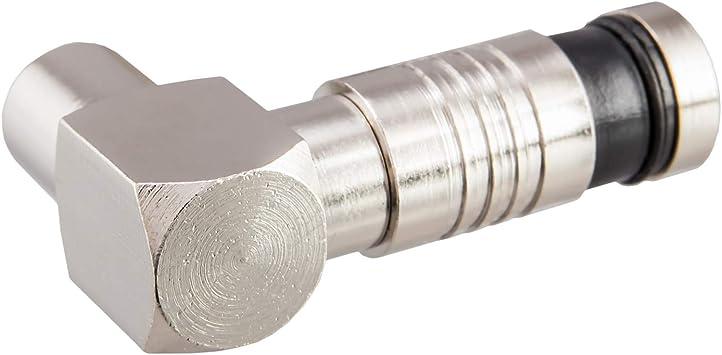 Juego de conectores acodados 1 conector macho y 1 hembra para cable de antena DVB-C Radio DVB-T2 TV IEC macho+hembra conector de compresi/ón Vegoldet para cable de antena BK instalaciones 4K 90/°grados