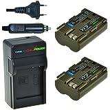ChiliPower BP-511, BP-511A Kit: 2x Batterie (1700mAh) + Chargeur pour Canon EOS 5D, 10D, 20D, 20Da, 30D, 40D, 50D, 300D, D30, D60, Rebel, PowerShot G1, G2, G3, G5, G6, Pro 1, Pro 90, Pro 90 IS, FV10, FV100, FV2, FV20, FV200, FV30, FV300, FV40, FV400, FV50, FVM1, FVM10, Optura 10, Optura 100MC, Optura 20, Optura 200MC, Optura 50MC, Optura Pi, Optura Xi, PV130, ZR10, ZR20, ZR25, ZR25MC, ZR30, ZR30MC, ZR40, ZR45MC, ZR50MC, ZR60, ZR65MC, ZR70MC, ZR80, ZR85, ZR90