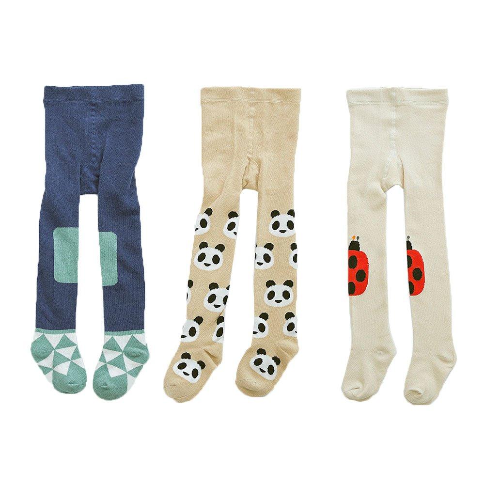 JT-Amigo Lot de 3 Collants Coton Bébé Garçon Fille, 2-3 ans Baby-Tights-001-L