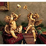 Baby Cherub Angel of St. Peters Square Inspired By Gian Lorenzo Berninis Angel Statues At the Borghese Gallery in Rome - Set of 2