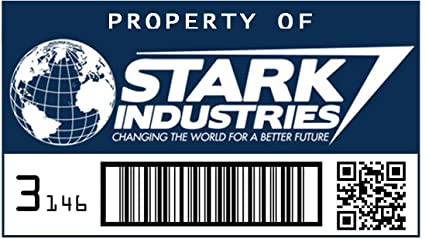Amazon asset tag property of stark industries posters prints asset tag property of stark industries colourmoves