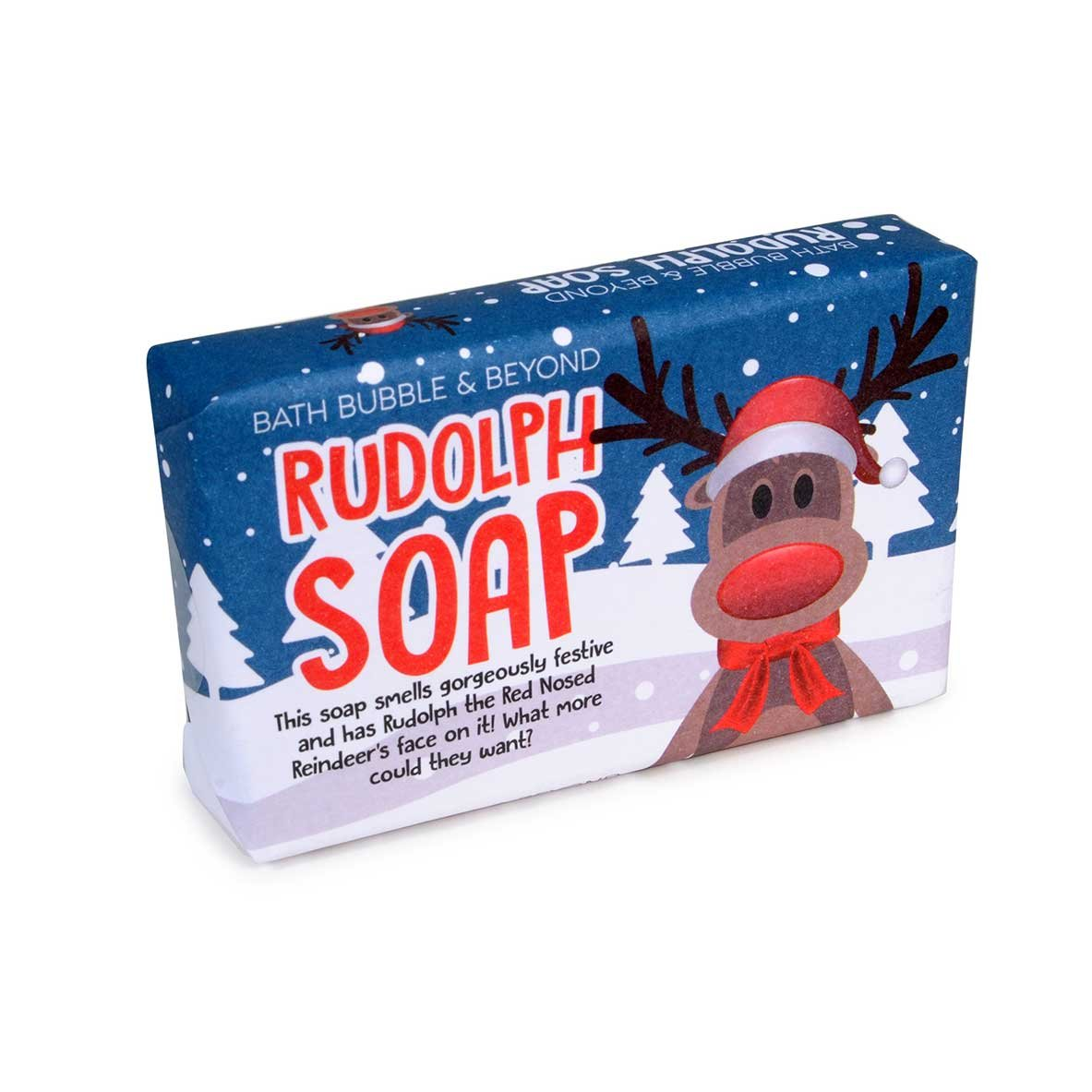 Rudolph The Red Nose Reindeer Christmas Hand Soap, Fragrance Cinnamon and Orange Bath Bubble and Beyond