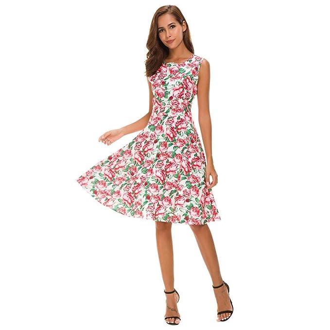 100% authentic e095c dd2f6 CLOOM Vestito Donna Estivo, Vintage Estivi Vestiti Casual ...