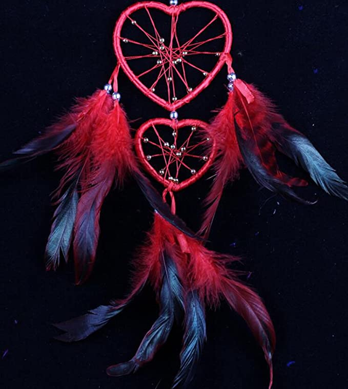 Daeou Double Peach Heart Dream Catcher