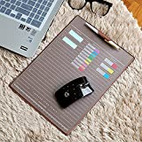 Image of ELSKY Office Mouse Mat for Computer or laptop,Gmaing Mouse Pads/Mouse&Desktop Protector/Keyboard Pad,Drawing & Writing Pad with Card Schedule Pockets,Cover With 2 Transparent Sheets for Mamo (Coffee)